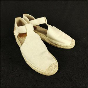 Tory Burch Catalina Espadrille Wedge Shoes Natural